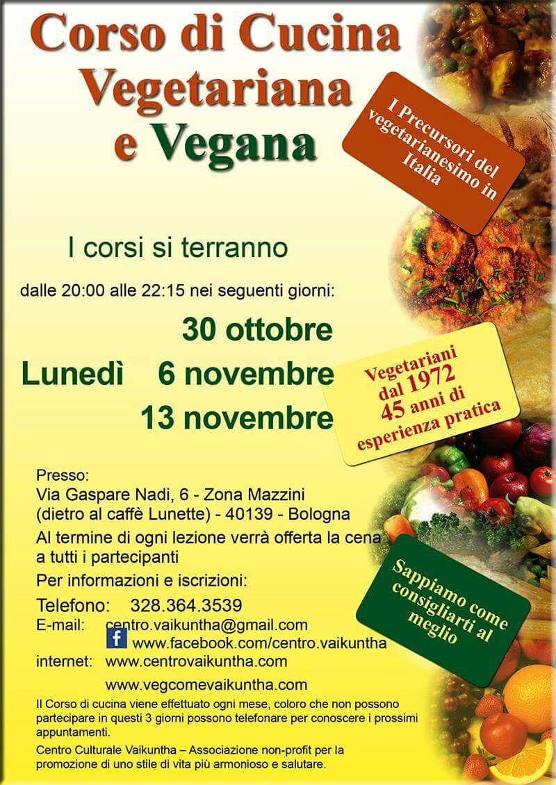Corsi di Cucina Vegetariana e Vegana a Bologna  Il tuo