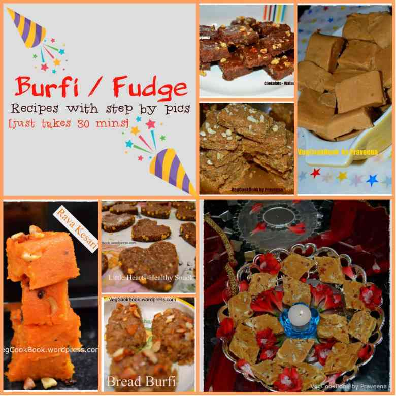 indian burfi / fudge recipes