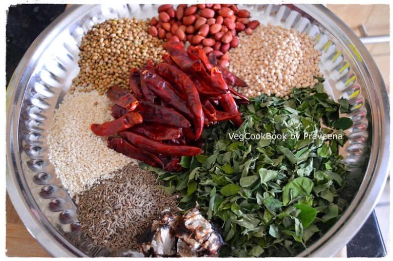 moringa leaves spice powder / munagaku podi