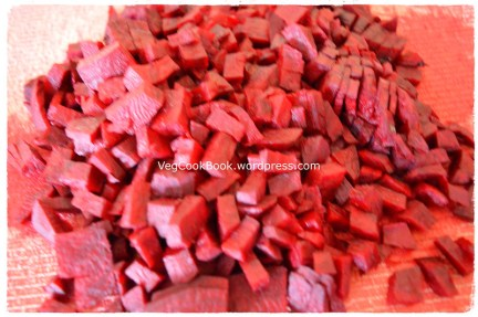 Beetroot cut into small pieces