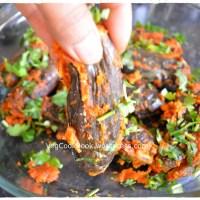 Stuffed Brinjal Dry Curry / GuttiVankaya Podi Koora