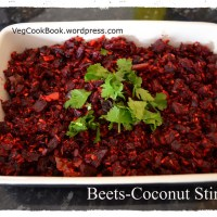 Beetroot-Coconut Stir Fry / Beetroot-Kobbari Koora