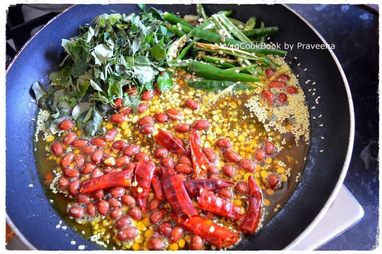 munagaku pulihora / drumstick leaves rice