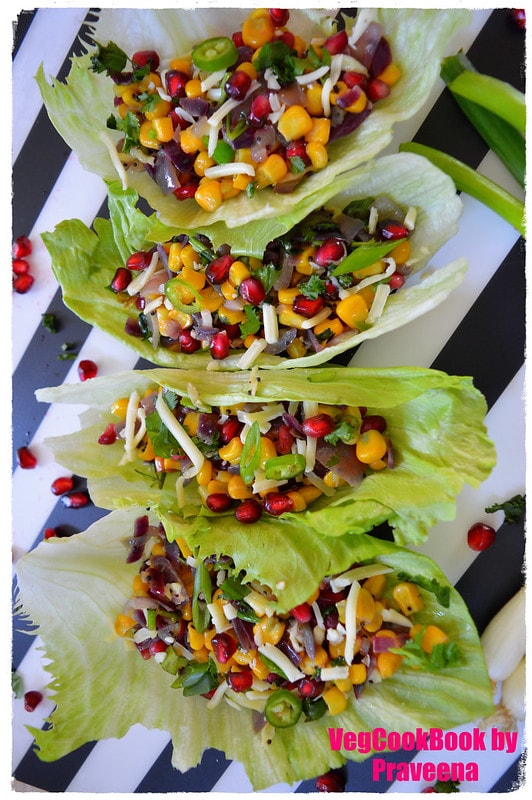sweetcorn & pomegranate salad