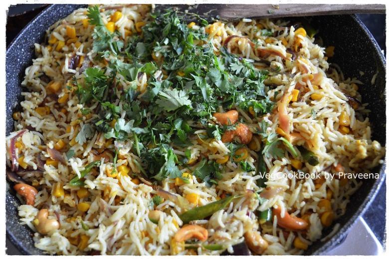 Sweet Corn Cashew Rice