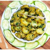 Coriander Baby Potatoes - Quick Snack