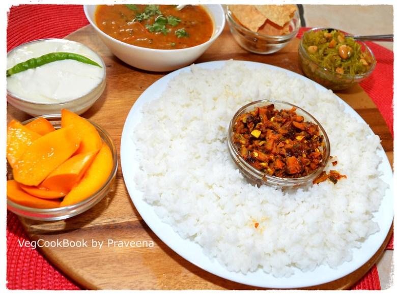 bhojanam / thali / meal platter