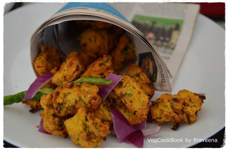 chickpea fritters / chana pakoda (air fryer & stove top)