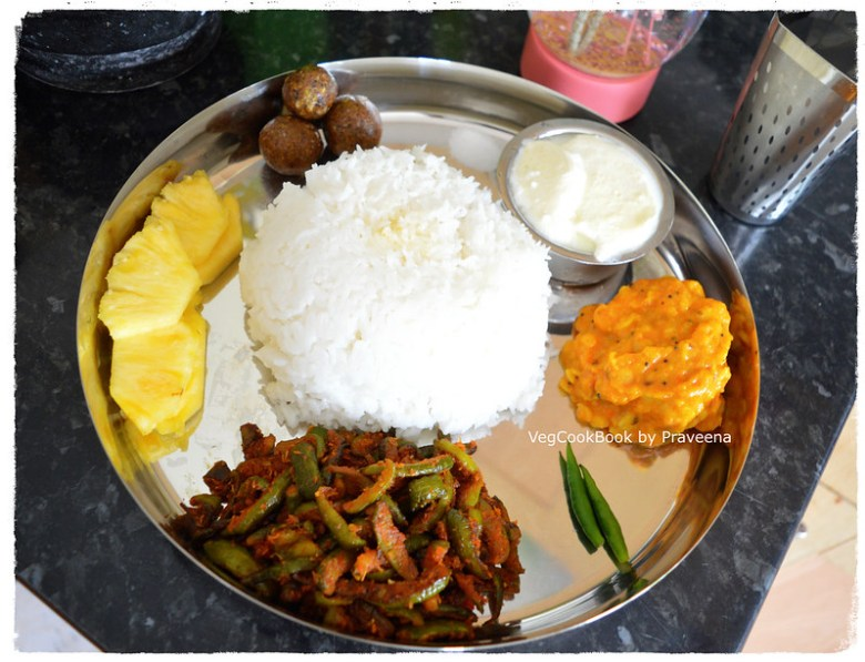 bhojanam / No-Onion No-Garlic Indian Veg thali