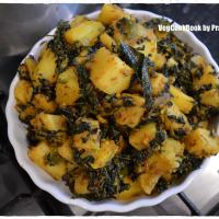 Aloo Methi Sabzi / Potato & Fenugreek Fry