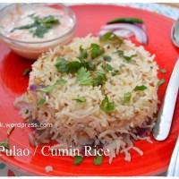 Jeera Pulao / Cumin Rice