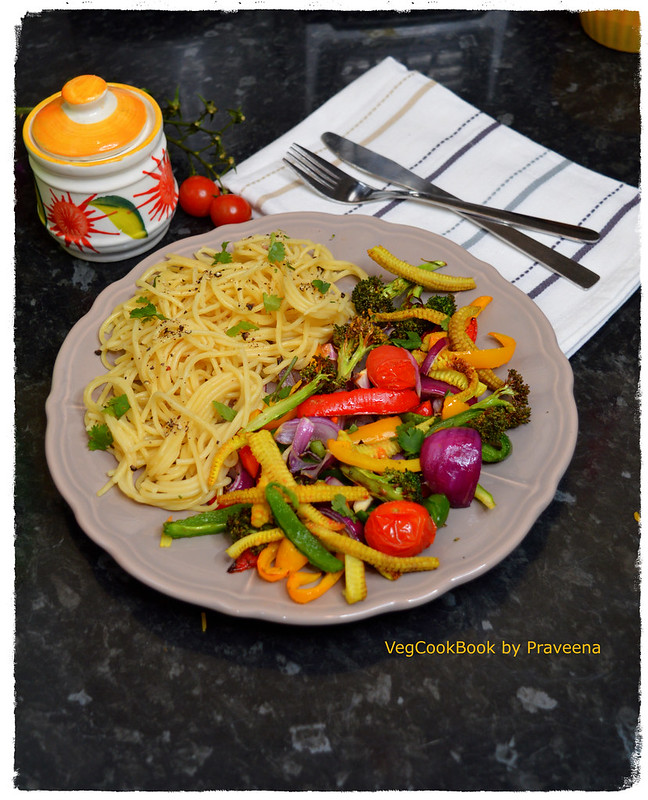 Chinese Stir Fry Vegetables & Noodles (Air Fryer & Stove Top)