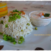 Spring Onion Pulao / Salad Onion Rice