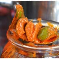 Andhra Pesara Avakaya / Raw Mango & Moong Dal Pickle