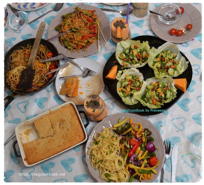 Veg Family Meal Spread