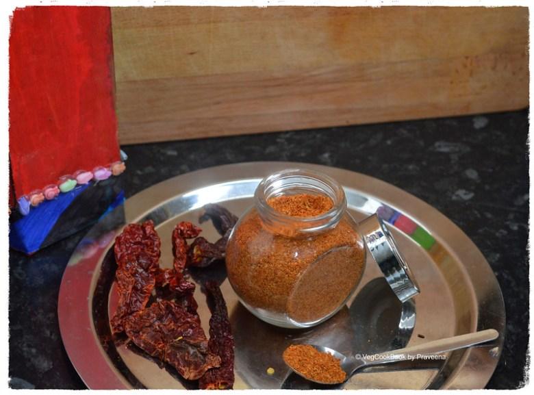 Spice Powder for Roasted Veg / Vepudu Karam Podi