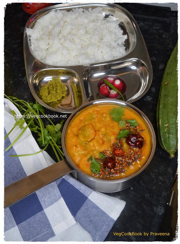 Ridge Gourd Dal / Beerakaya Pappu (Instant Pot / Stove Top) turai vegan lentil stew