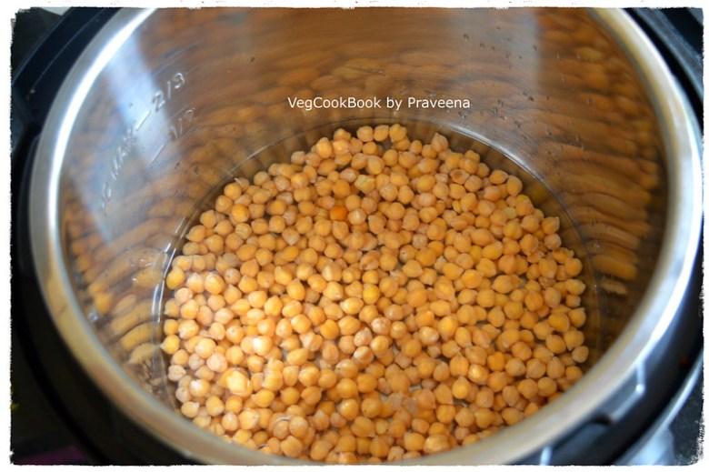 Chickpeas & water taken in Instant Pot pressure cooker