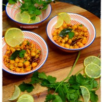 Thalimpu Senagala / Chana Tadka / Seasoned Chickpeas