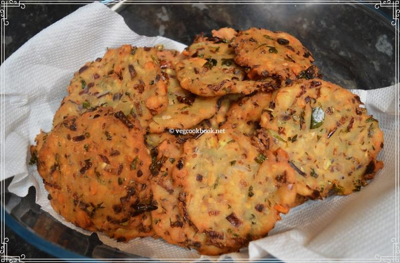 MADDUR VADA (Air fryer / Baked Snack) Maddhur Vade Karnataka special savoury snack recipe