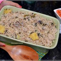 Methi Pulao / Rice with Fenugreek Leaves