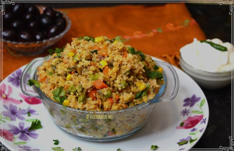 bulgar wheat / godhumanooka / dalia pulao.No Prep work,Low Carbs,Weight Loss Diet,healthy,one pot meal recipe made in Instant Pot pressure cooker or stove top.