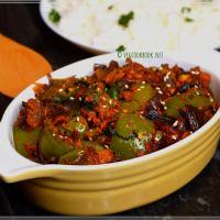 Capsicum-Nuvvula Koora / Bell Pepper-Sesame Curry / Shimla Mirch-Til Sabzi
