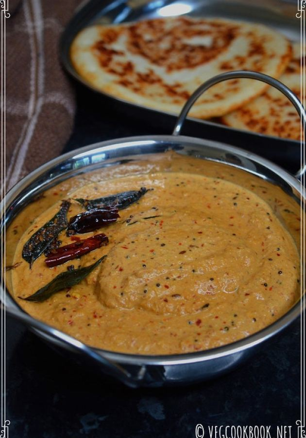peanut chutney / palli pachchadi. Simple, Easy, South Indian style, Instant, Quick to make recipe for idli, dosa with peanuts, groundnuts.
