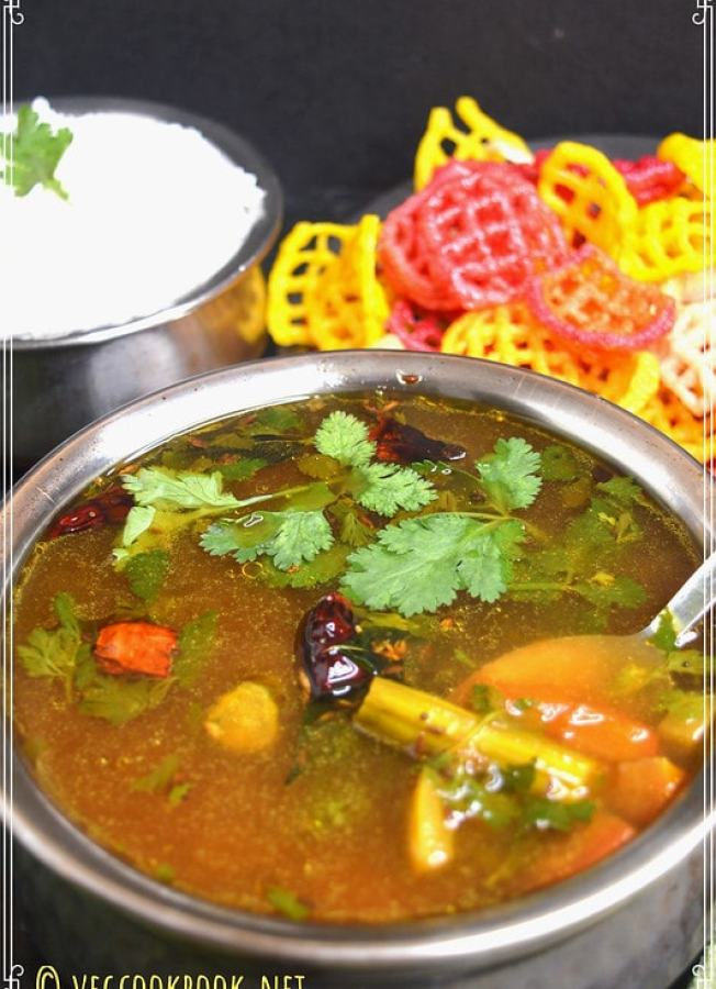 Easy, Quick, Few Ingredients recipe for Instant Soup / South Indian Andhra style rasam without powder made within 10 mins.