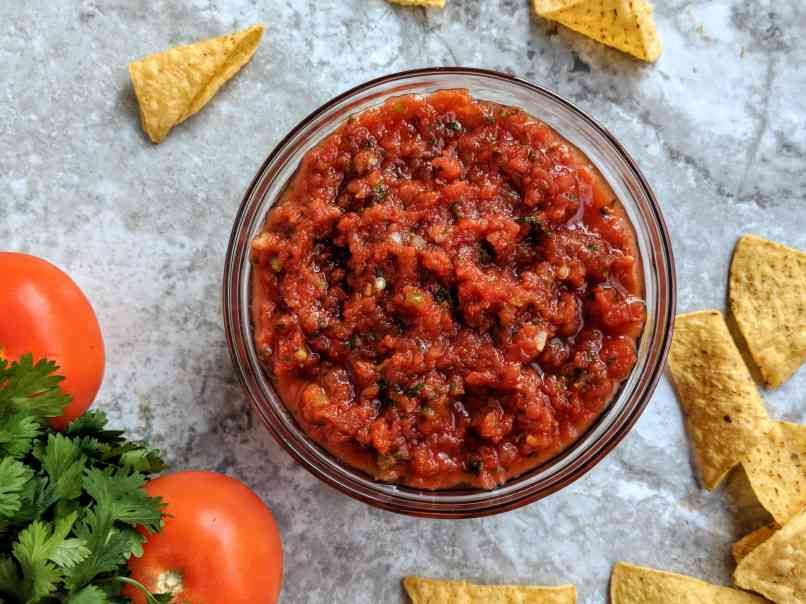 Tomato Salsa Recipe Step By Step Instructions