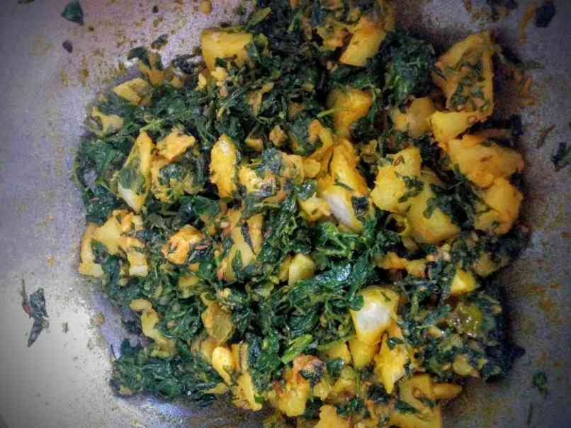 Aloo Methi Recipe With Step By Step Instructions