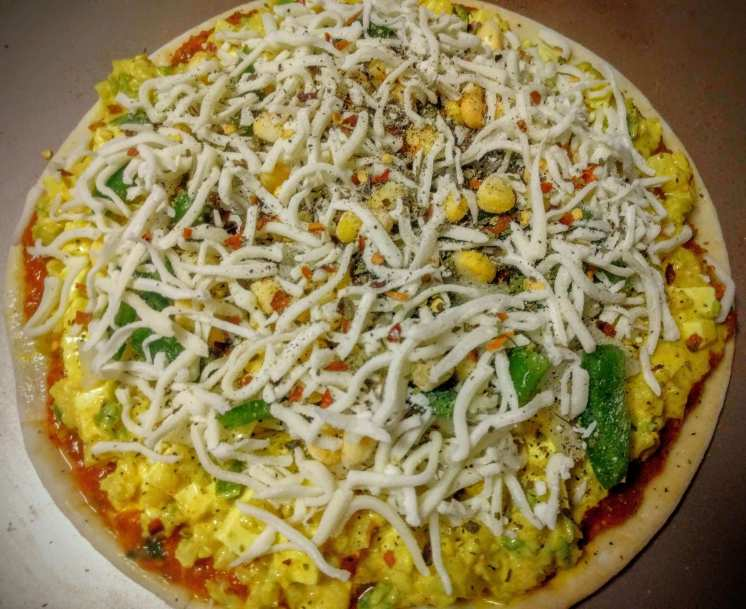 Paneer Tikka Pizza Recipe Step By Step Instructions 6