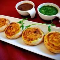 Samosa Pinwheels | Aloo Bhakarwadi | Spiced Potato Pinwheels