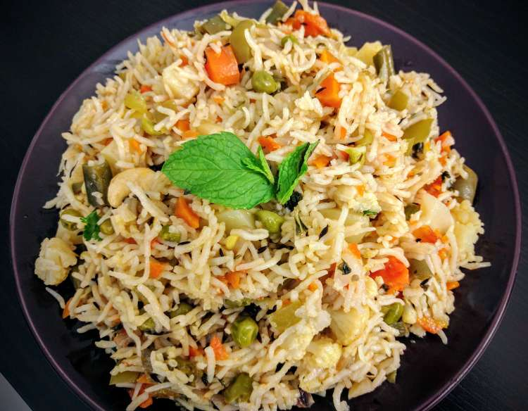 Veg Pulao Recipe Step By Step Instructions