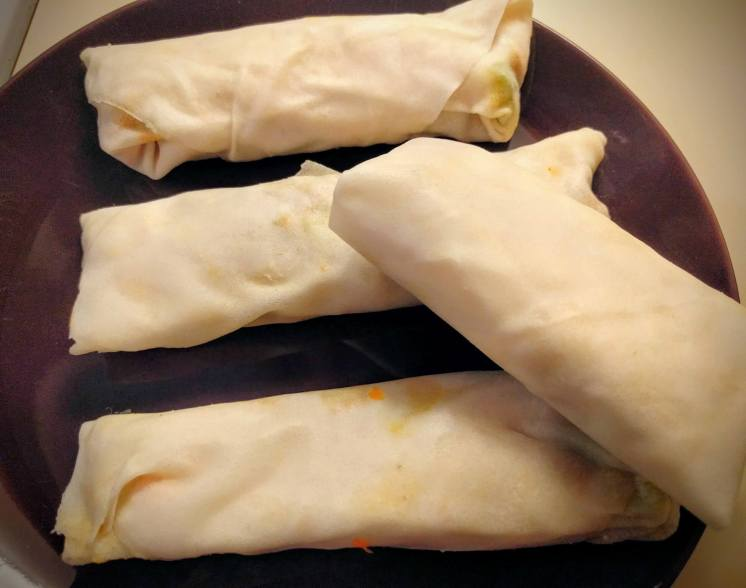 Veg Spring Rolls Recipe Step By Step Instructions 16