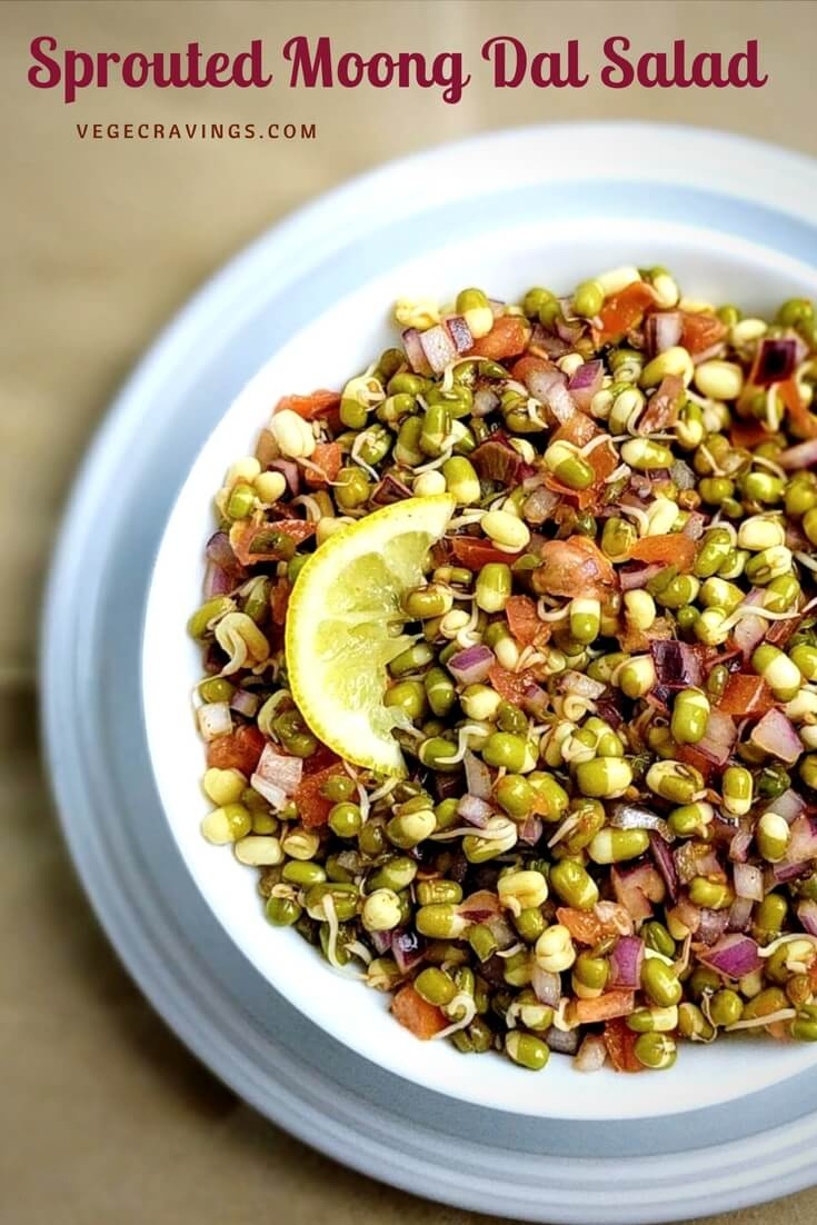 Sprouts Salad | Sprouted Moong Dal Salad