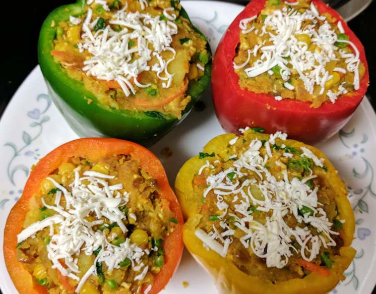 Stuffed Capsicum Recipe Step By Step Instructions 12
