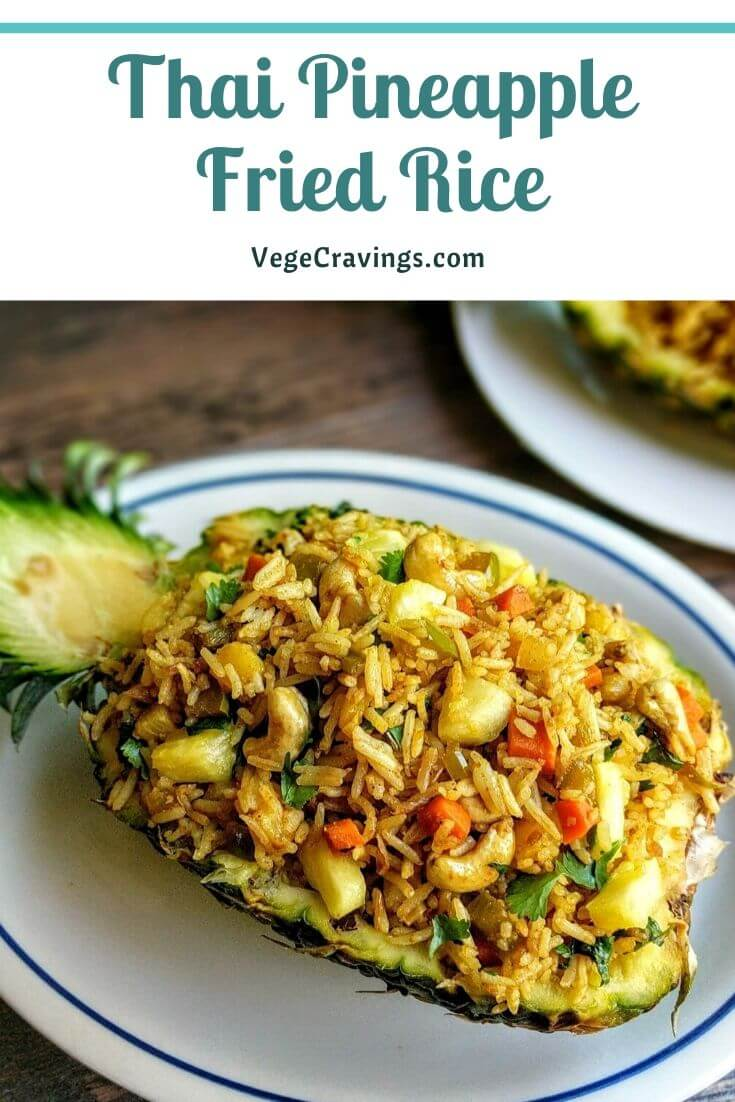 Pineapple Fried Rice Recipe is inspired from Thai Cuisine. This exotic sweet & salty dish is prepared by cooking Rice with Pineapple & spices.