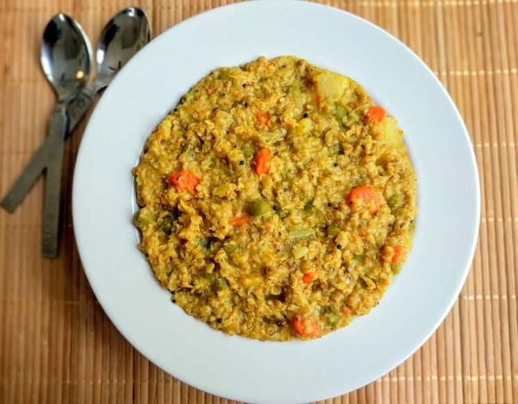 Dalia Khichdi Recipe Step By Step Instructions