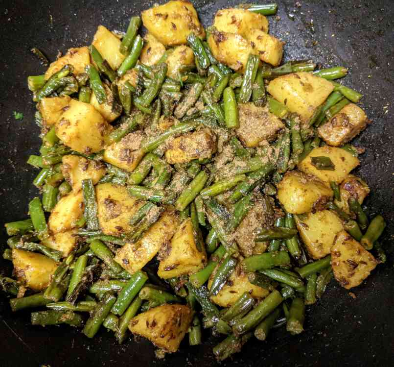 Aloo Beans Recipe Step By Step Instructions 5
