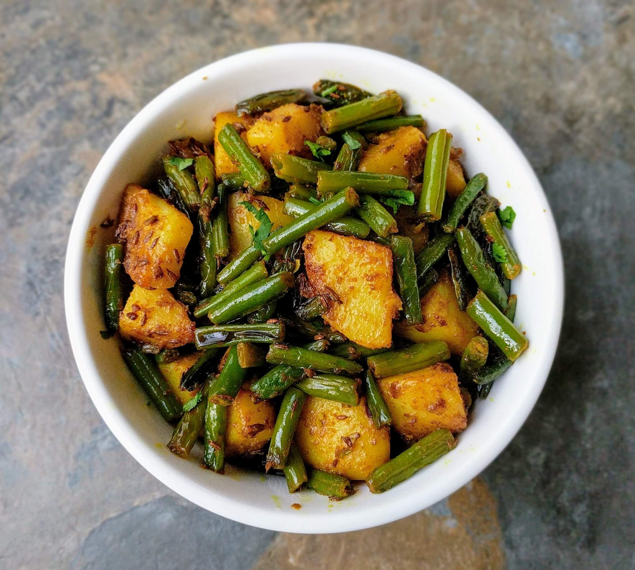 Aloo Beans Recipe Step By Step Instructions