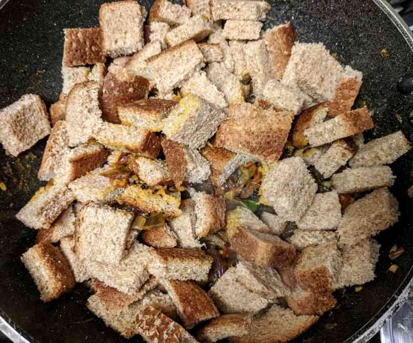 Bread Upma Recipe Step By Step Instructions 10