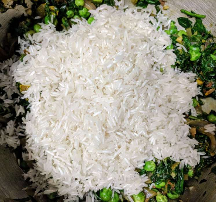 Palak Pulao Recipe Step By Step Instructions 8