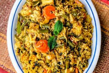 Quick Veg Biryani Recipe Step By Step Instructions