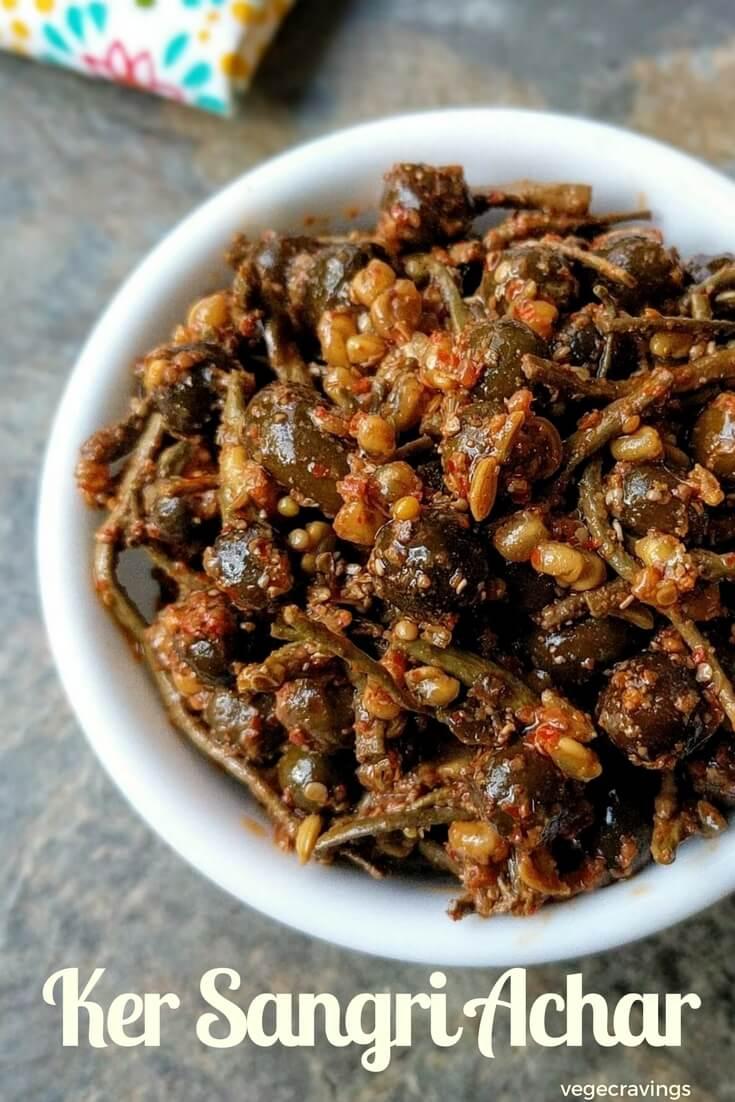Ker Sangri Achar Recipe   Rajasthani Recipes