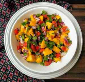 Mango Salsa Recipe Step By Step Instructions