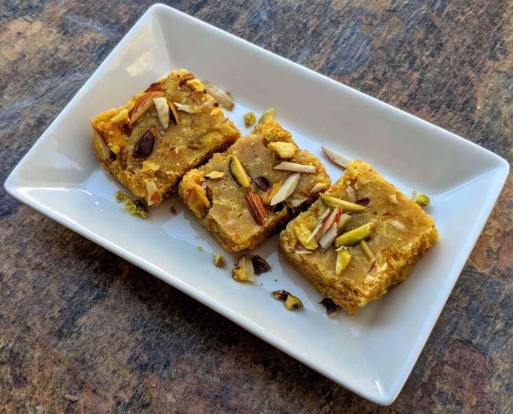 Besan Mawa Barfi Recipe Step By Step Instructions