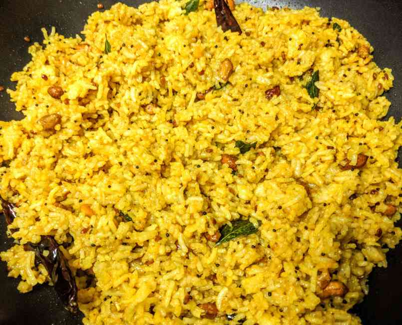 Pulihora | Tamarind Rice Recipe Step By Step Instructions 7