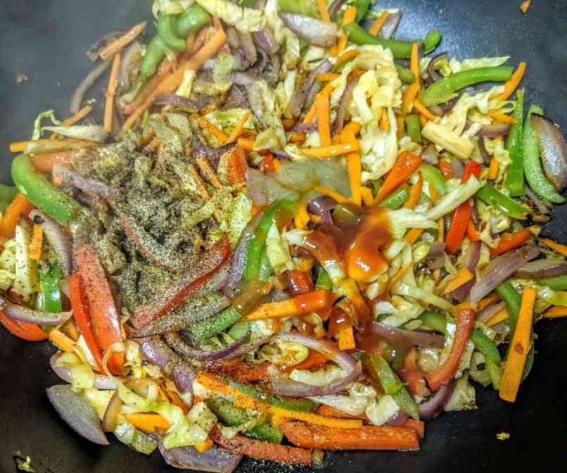 Vegetarian Chowmein Recipe Step By Step Instructions 7