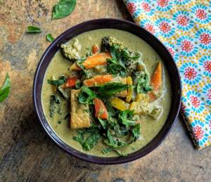 Vegetarian Thai Green Curry Recipe Step By Step Instructions